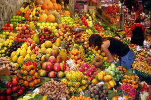 fruit and veg in market